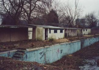 Southwark Park - derelict lido