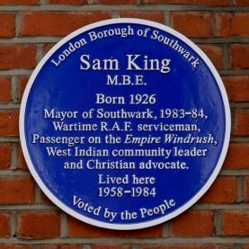 Sam King blue plaque