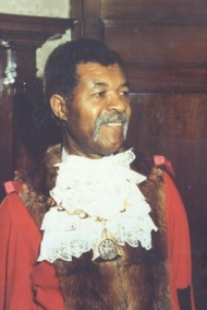 Sam King. Mayor of Southwark, 1983
