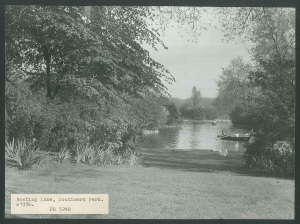 Southwark Park boating lake