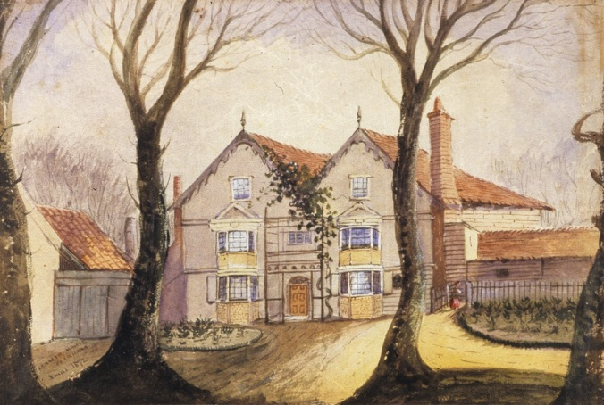 Painting of Basing Manor (GA01722)