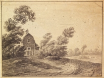 Drawing of cottage on Peckham Rye, 1816 by John Brompton Cuming (GA1337)