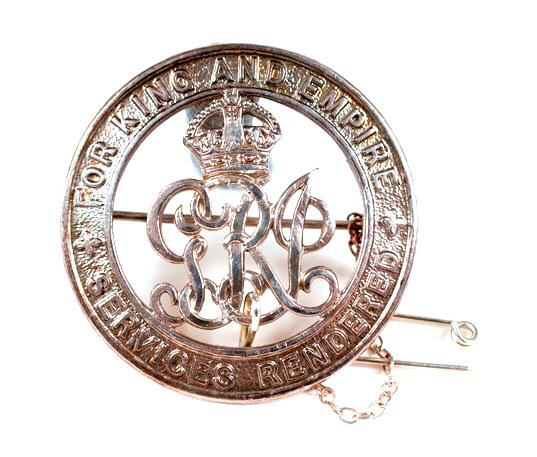 Silver War Badge awarded to William Thomas Graham, Rifle Brigade (LDCUM2009.009.001)