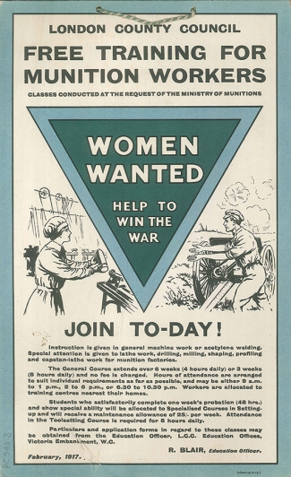 Free Training for Munition Workers - Women Wanted
