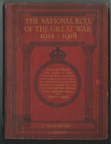 The National Roll of the Great War: 1914 - 1918