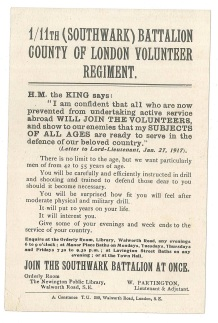 Southwark Battalion - Volunteer Regiment
