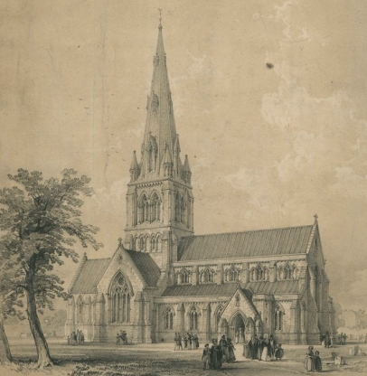 St Giles Church Camberwell plan 1842