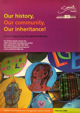 Forum - LGBT History Month poster 2006, Southwark Council (2011-6)