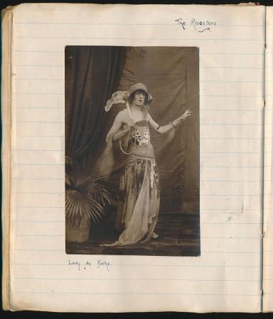 Kenneth Lowndes as Lady de Bathe (Harry Milner scrapbook, RES 356.1)