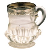 Some of the stalls sold souvenirs like this glass and silver mug, possibly made in Southwark.