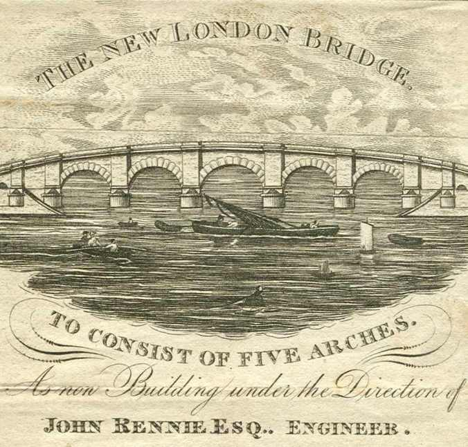 The new bridge, built in 1831 had much wider arches.