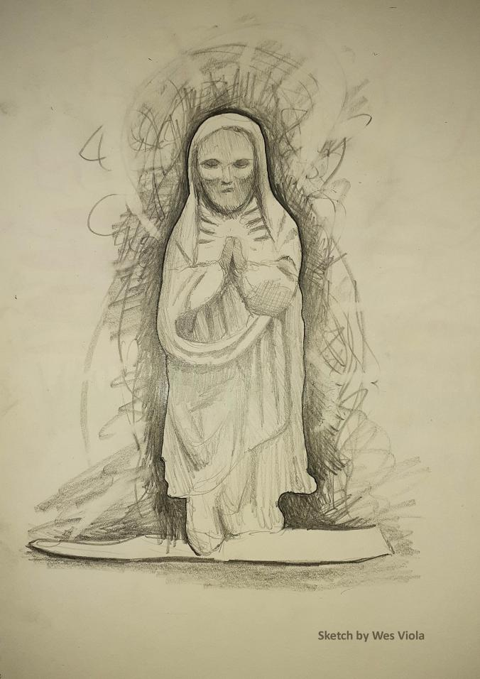 St Anne sketch by Wes Viola