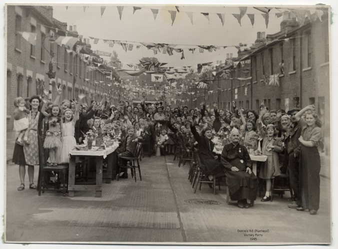 daniels road victory party 1945